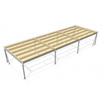 Lagerbühne 4 x 15 : 500 kg/m2